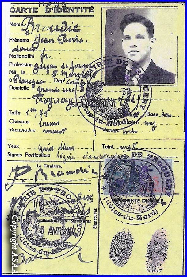 2nd Lt. LORENZI - False identity card